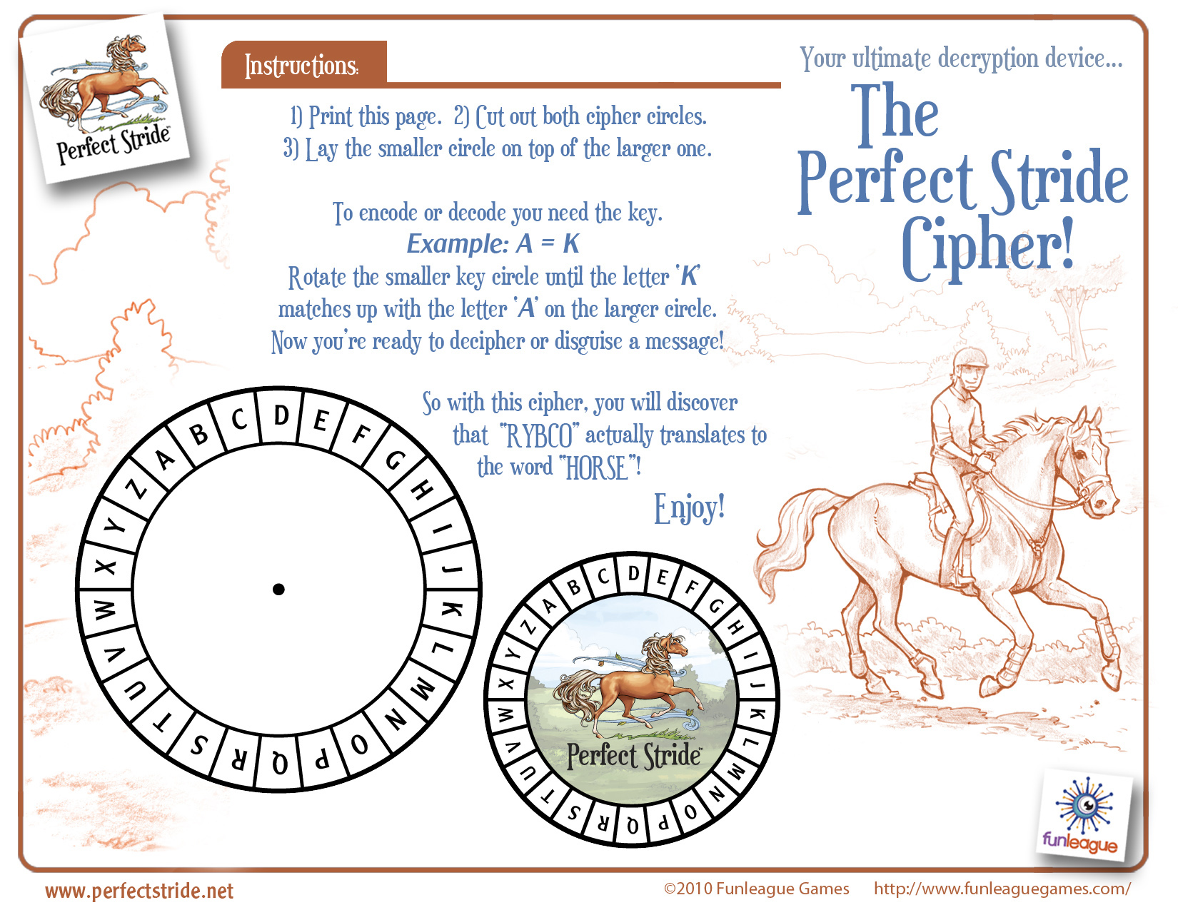 This is a picture of Remarkable Printable Cipher Wheel
